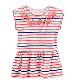 OshKosh B'Gosh® Girls' 2T-8 Striped Short Sleeve Tunic Top