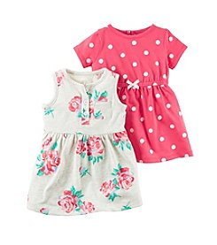 Carter's® Baby Girls' 3-Piece Dress and Bottoms Set