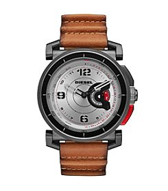 Diesel On Time Hybrid Leather Strap Smart Watch