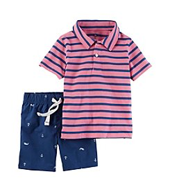 Carter's® Baby Boys 2-Piece Shirt And Short Set