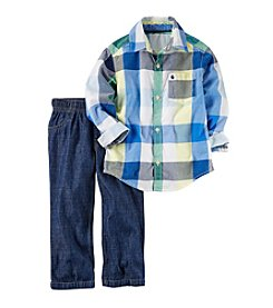 Carter's® Baby Boys 2-Piece Shirt And Pants Set