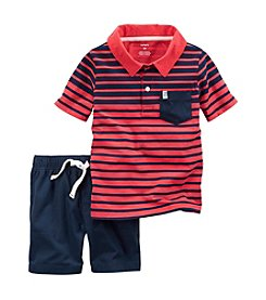 Carter's® Baby Boys 2-Piece Shirt And Shorts Set