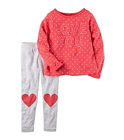 Carter's® Baby Girls' 2-Piece Shirt And Legging Set