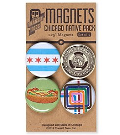 Transit Tees Chicago Native Magnet Set