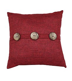 Heathered Coconut Button Decorative Pillow