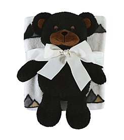 Stephan Baby® Black Bear Toy & Blanket Set