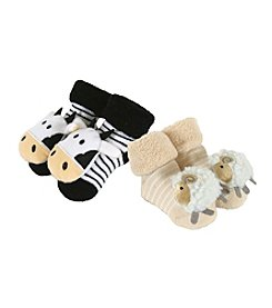 Stephan Baby® Set of 2 Farm Rattle Socks