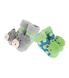 Stephan Baby® Set of 2 Green Rattle Socks