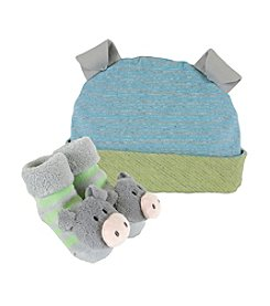 Stephan Baby® Pig Cap and Rattle Socks Set