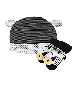 Stephan Baby® Cow Cap and Rattle Socks Set