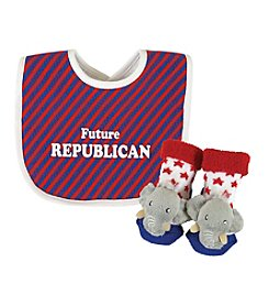 Stephan Baby® Republican Bib and Rattle Socks Set