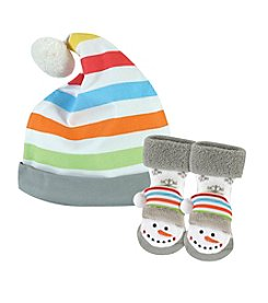 Stephan Baby® Snowman Cap and Rattle Socks Set