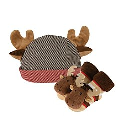 Stephan Baby® Moose Cap and Rattle Socks Set