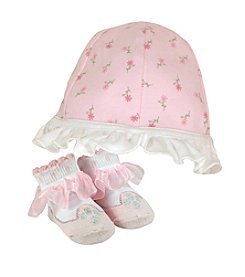 Stephan Baby® Rose Cap and Socks Set
