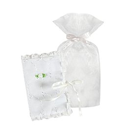 Stephan Baby® White Bible Eyelet Cover