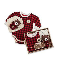 Baby Aspen Baby Boys' 3-pc. Red Plaid Happy Camper Gift Set