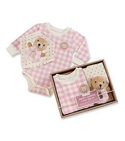 Baby Aspen Baby Girls' 3-pc. Pink Plaid Happy Camper Gift Set
