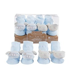 Baby Aspen 2-Pair Bear and Puppy Blue Rattle Socks