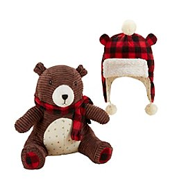 Baby Aspen Baby Boys' Pierre the Bear Plush Plus Hat for Baby