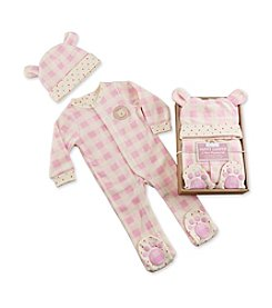 Baby Aspen Baby Girls' Pink Plaid Fleece Pajama Gift Set