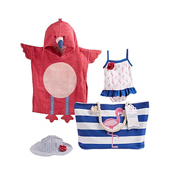 Baby Aspen 4-pc. Nautical Flamingo Gift Set with Canvas Tote