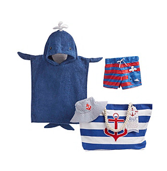 "Baby Aspen 4-pc. ""Fun in the Sun"" Nautical Gift Set with"
