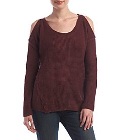 Skylar & Jade Cold-Shoulder Sweater