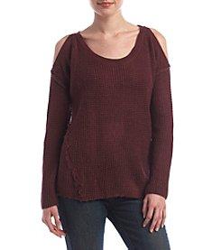 Skylar & Jade Cold-Shoulder Sweater