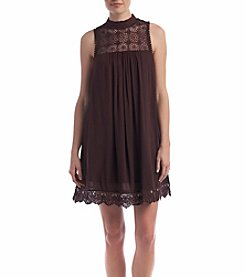 Skylar & Jade Lace Yoke Trapeze Dress