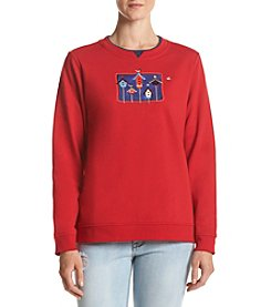 Breckenridge® Americana Birdhouses Fleece Sweatshirt