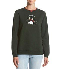 Breckenridge® Crafty Snowman Fleece Sweatshirt