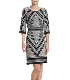 Calvin Klein Geometric Sheath Dress