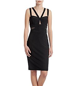 Xscape Illusion Insert Cocktail Dress