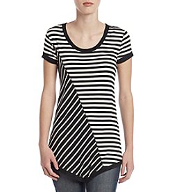 Cable & Gauge® Scoop Neck Asymmetrical Top