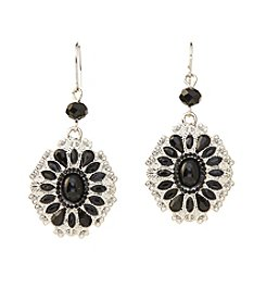 Studio Works® Black Faceted Stone Drop Earrings