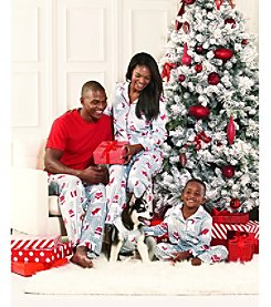 KN Karen Neuburger Family Polar Bear Printed Fleece Pajama Collection