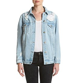 Boom Boom Oversized Destructed Denim Jacket