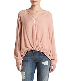 Eyeshadow® Wrap Front Top