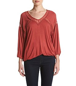 Eyeshadow® Lace Trim Blouse