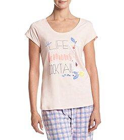 HUE® Scoop Neck Pajama Top
