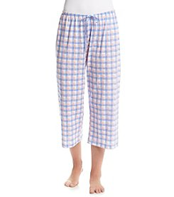 HUE® Plaid Sleep Capri