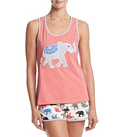 PJ Couture® Elephant Short Pajama Set