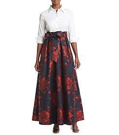 Eliza J ®Shirt Dress With Gown