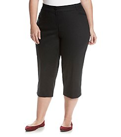 Studio Works® Plus Size Comfort Twill Crop Pants
