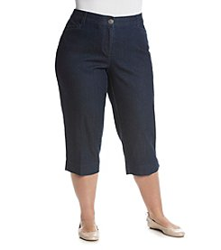 Studio Works® Plus Size Denim Comfort Crop Pants