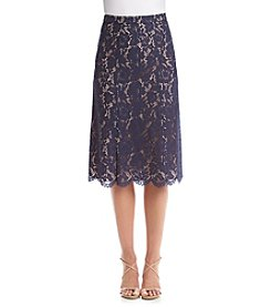 Anne Klein® Lace Midi Skirt