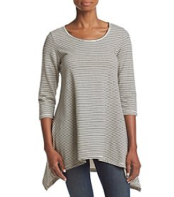 Fever™ Stripe French Terry Knit Sweater