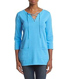 Jeanne Pierre® Lace Up Tunic