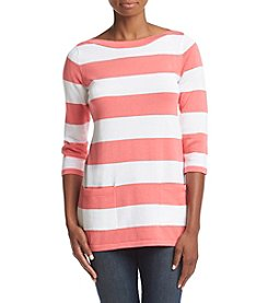 Jeanne Pierre® Striped Jersey Boatneck Tunic