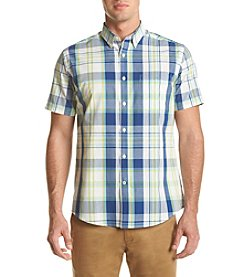 John Bartlett Consensus Men's Short Sleeve Plaid Woven Button Down Shirt